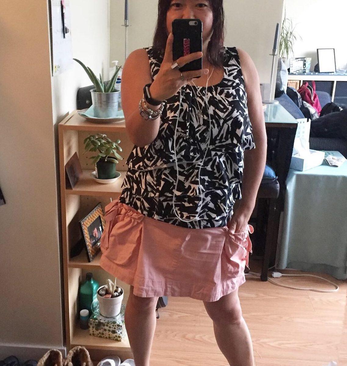 Bday ootd cupcake skirt