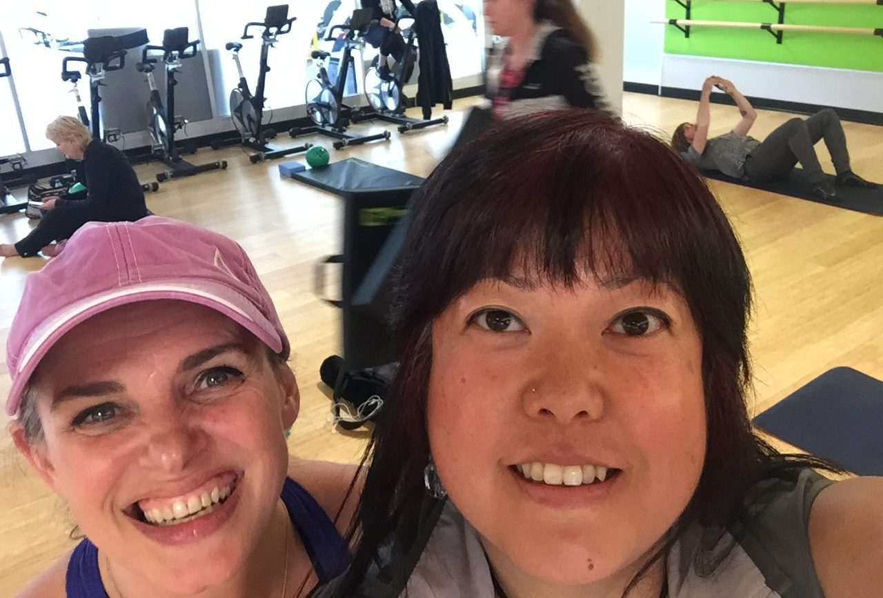 Fawn Gill & I at Pilates SNFC