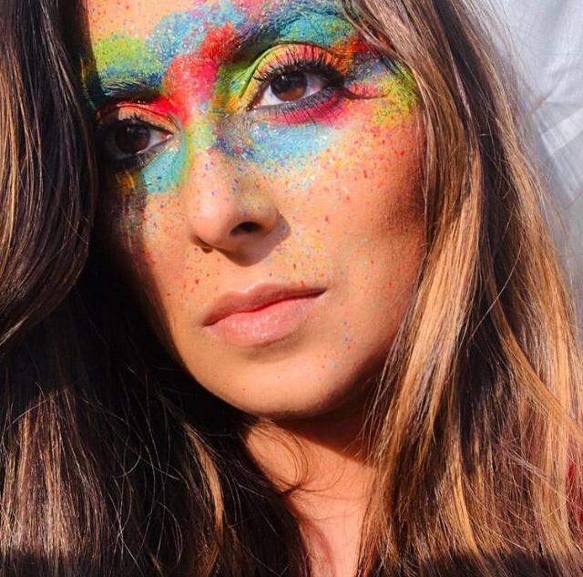 Holi Festival Makeup
